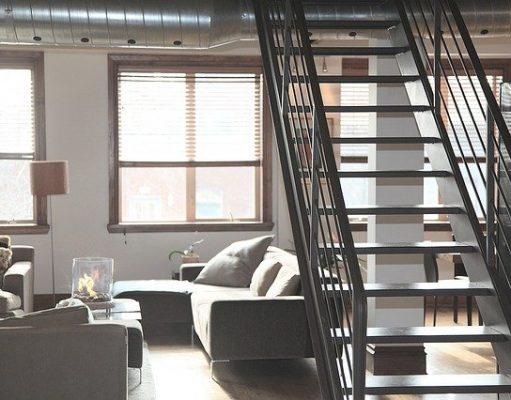 escalier dans un appartement